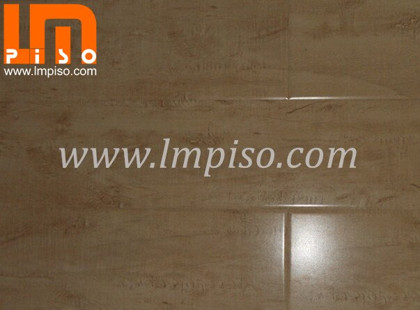 Best price glossy surface waterproof v groove laminate flooring