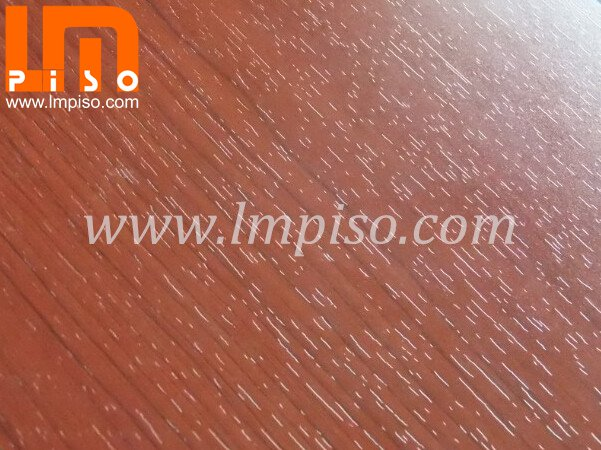 Vertical Red Cherry Durable Crystal Finish Laminate Flooring Lmpiso