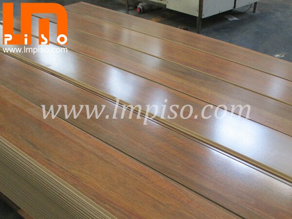 2400x190mm Long Board Artistic Teak Wood High Gloss Laminate