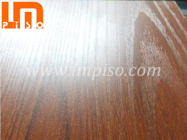 Low traffic red teak E1 real wood grain laminate flooring