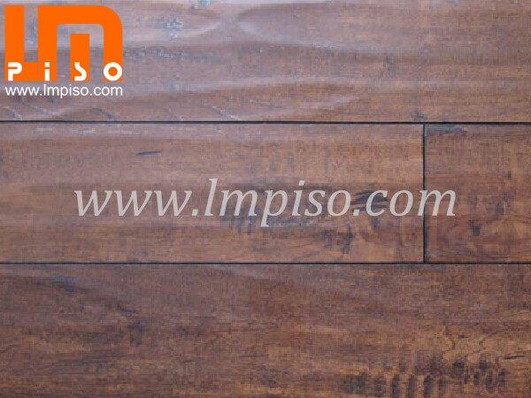 Best price dark walnut high traffic E1 glueless handscraped laminate