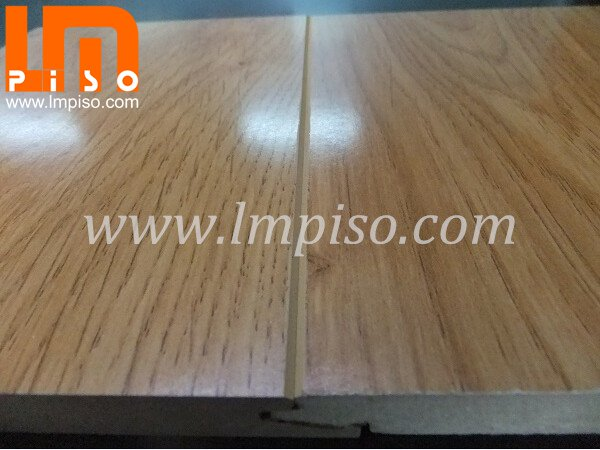German technology shinning finish teak wood v groove laminate