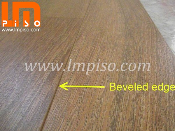 Competitive price for 12.3mm wenge wood beveled edges v groov