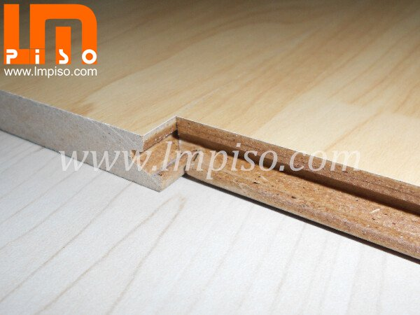 Maple Wood Color Suqared Edges Single Click Waterproof Lamina