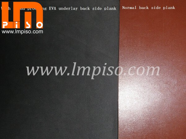 Brown back layer stick with soundproof eva underlayment laminate flooring