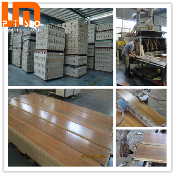 High traffic pressed v groove handscraped laminate flooring