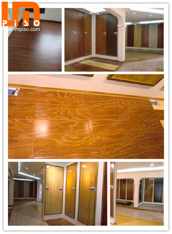 Natural smooth surface anti termite bamboo laminate flooring