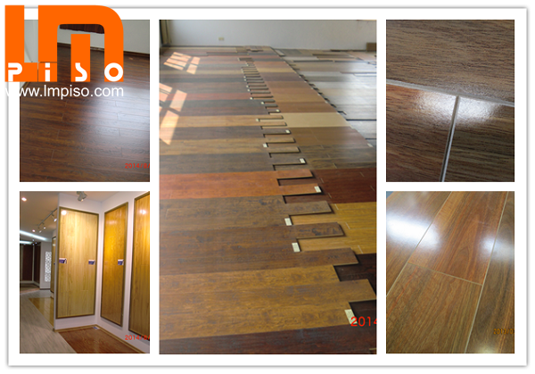 Dark color antimoisture large embossed laminate timber flooring