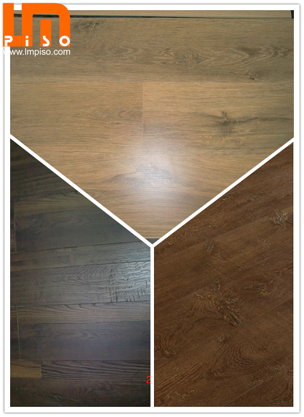 Arc click pressed v groove handscraped surface laminate flooring
