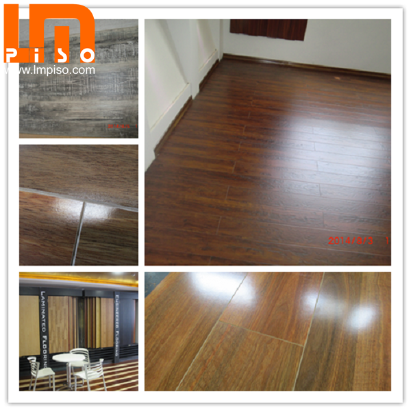 8mm antistatic yellow rosewood laminate floors for apartment