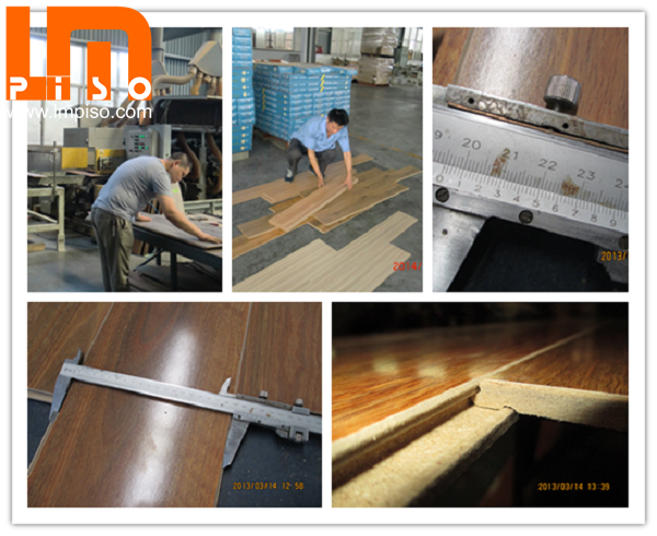 Pressed v groove single clic AC4 handscraped surface laminate flooring