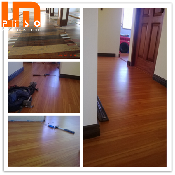 Sound resistant competitive price large embossed laminate flooring