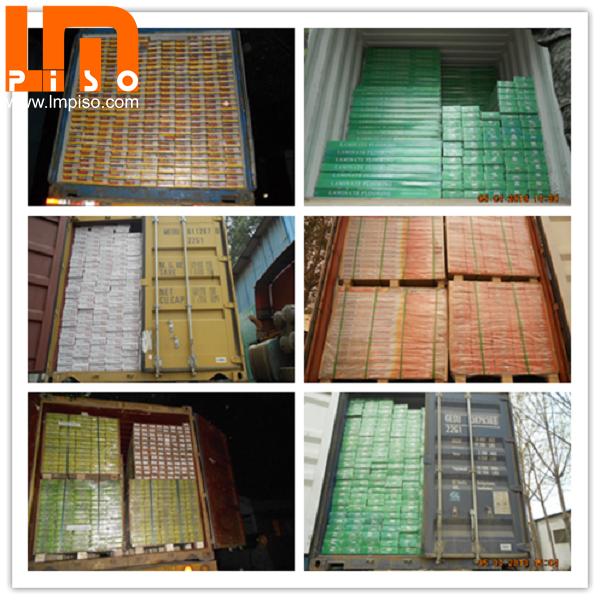 Best price OEM dark color textured finish melamin laminate flooring