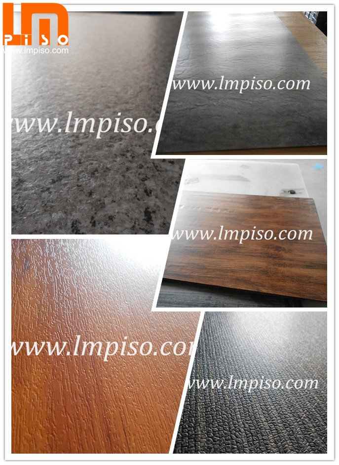 Deep Embossed finish Wood Plastic Composite WPC Indoor Flooring with Cork