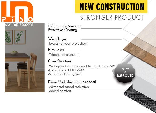 Germany Standard Residencial Vinyl Rigid Core SPC Plastic Flooring - Is vinyl plank flooring scratch resistant